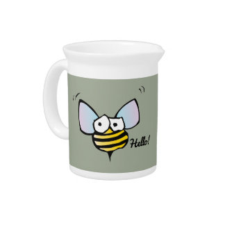 Happy Jolly Bee Pitcher