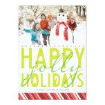 Happy Jolly Holiday Photo Card Custom Invites