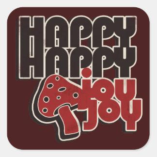 Happy Joy Square Stickers
