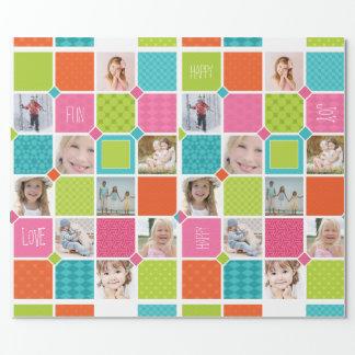 Happy Joyful Fun Photo Wrapping Paper