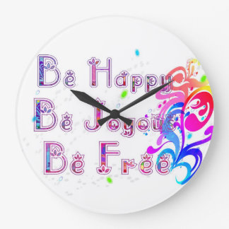 Happy joyous and Free Clocks