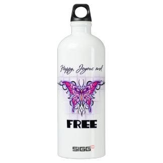 Happy Joyous free Aluminum Water Bottle