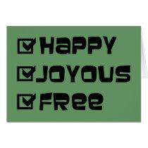 Happy Joyous Free Card