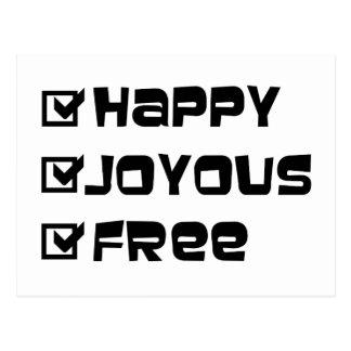 Happy Joyous Free Postcard