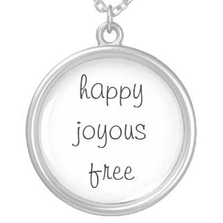 happy joyous free round pendant necklace
