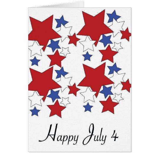 Happy July 4 card