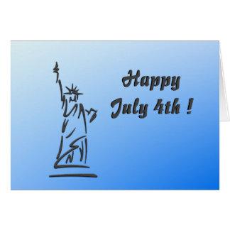 Happy July 4th Blank Inside Greeting Card