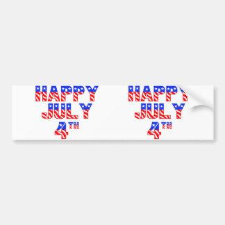 Happy July 4th Car Bumper Sticker