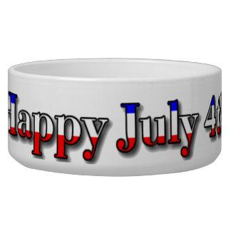 Happy July 4th Corgis Pet Water Bowl