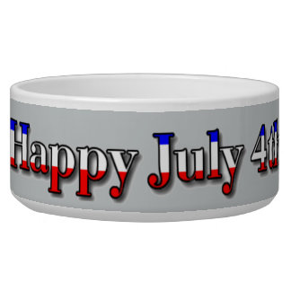 Happy July 4th Corgis Dog Water Bowls