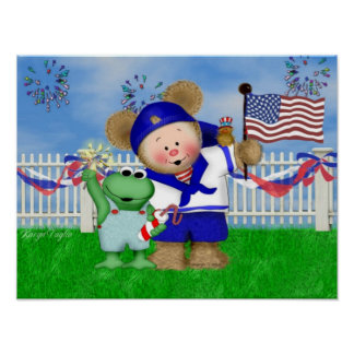 Happy July 4th Critters Print