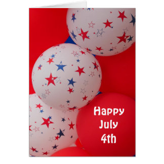 Happy July 4th - General - Red-White-Blue-Balloons Card