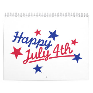 Happy July 4th Independence Day Calendar