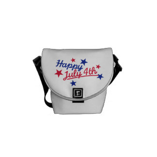 Happy July 4th Independence Day Messenger Bags