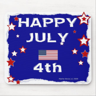 Happy July 4th - Independence Day - Mousepad