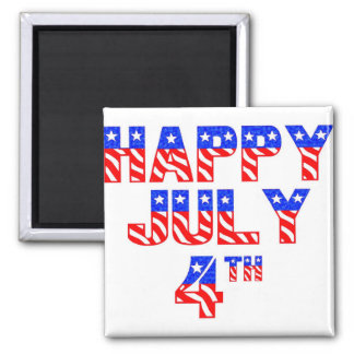Happy July 4th Refrigerator Magnet
