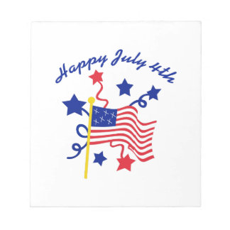 HAPPY JULY 4TH NOTEPADS
