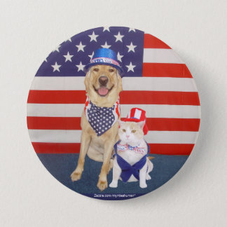 Happy July 4th!! Pinback Button