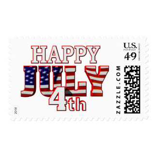 Happy July 4th postage