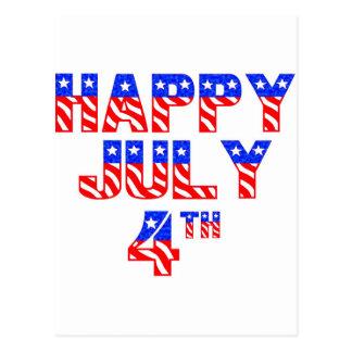 Happy July 4th Postcard
