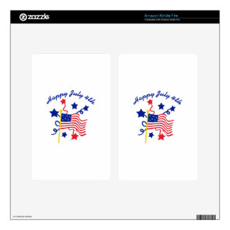 HAPPY JULY 4TH SKIN FOR KINDLE FIRE