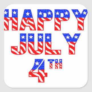 Happy July 4th Square Sticker