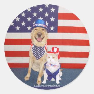 Happy July 4th! Round Stickers