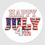Happy July 4th stickers