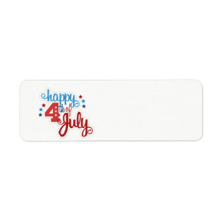 Happy July 4th text Label