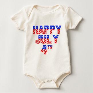 Happy July 4th Baby Bodysuits