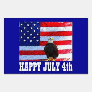 Happy July 4th Yard Sign