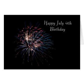 Happy July Forth Birthday Card