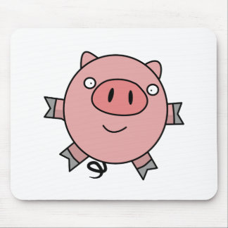 Happy Jumping Pig Mouse Pad