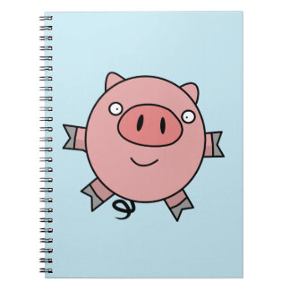 Happy Jumping Pig Notebook
