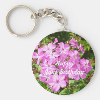 Happy June Birthday For All Keychain
