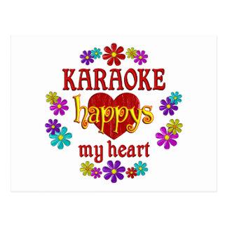 Happy Karaoke Post Card