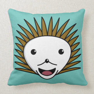Happy Kawai HedgeHog Throw Pillow