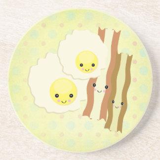 happy kawaii  breakfast coasters