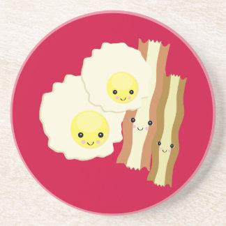 happy kawaii  breakfast drink coaster