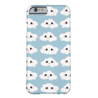 Happy Kawaii Cute and Smiling Clouds Barely There iPhone 6 Case