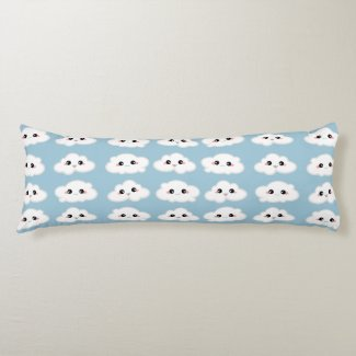 Happy Kawaii Cute and Smiling Clouds Body Pillow