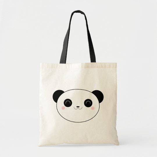 Happy Kawaii Panda Bear Tote Bag