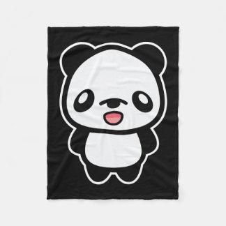 Happy Kawaii Panda Fleece Blanket