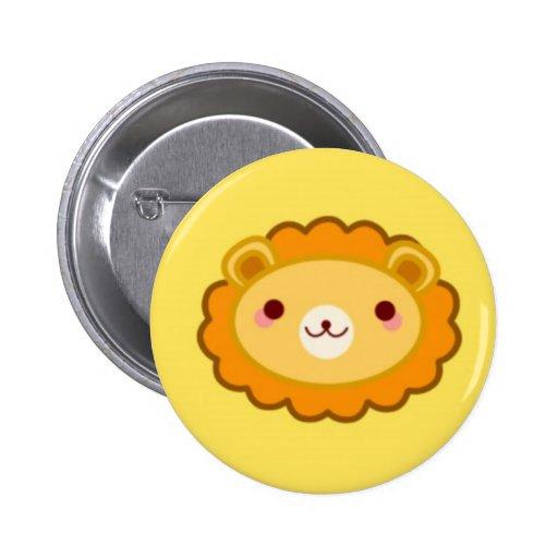 Happy Kawaii Shishi Pinback Button
