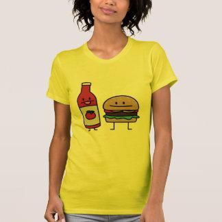 Happy Ketchup and Hamburger T-Shirt