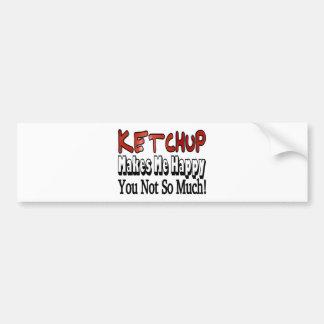 Happy Ketchup Car Bumper Sticker