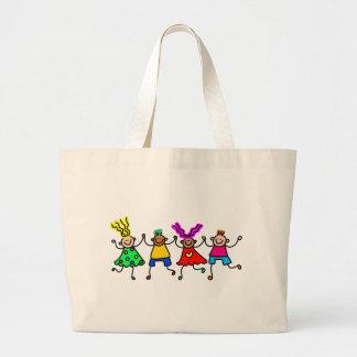 Happy Kids Jumbo Tote Bag