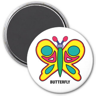 Happy Kids Butterfly Magnet