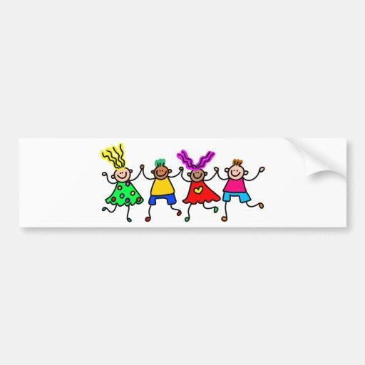Happy Kids Car Bumper Sticker