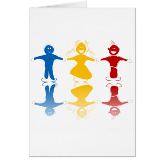 Happy Kids Silhouettes Greeting Cards